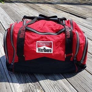 Vintage 80s 90s Marlboro Duffle Travel Gym Bag